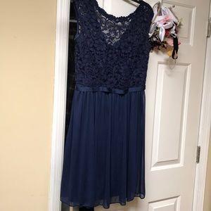Marine bridesmaid dress